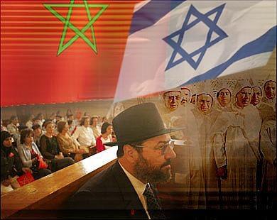 صورة تجسد العلاقات المغربية الإسرائيلية - من تصميمي -